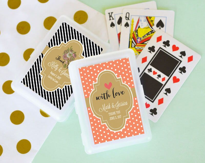 SET Of Personalized Playing Card Favors