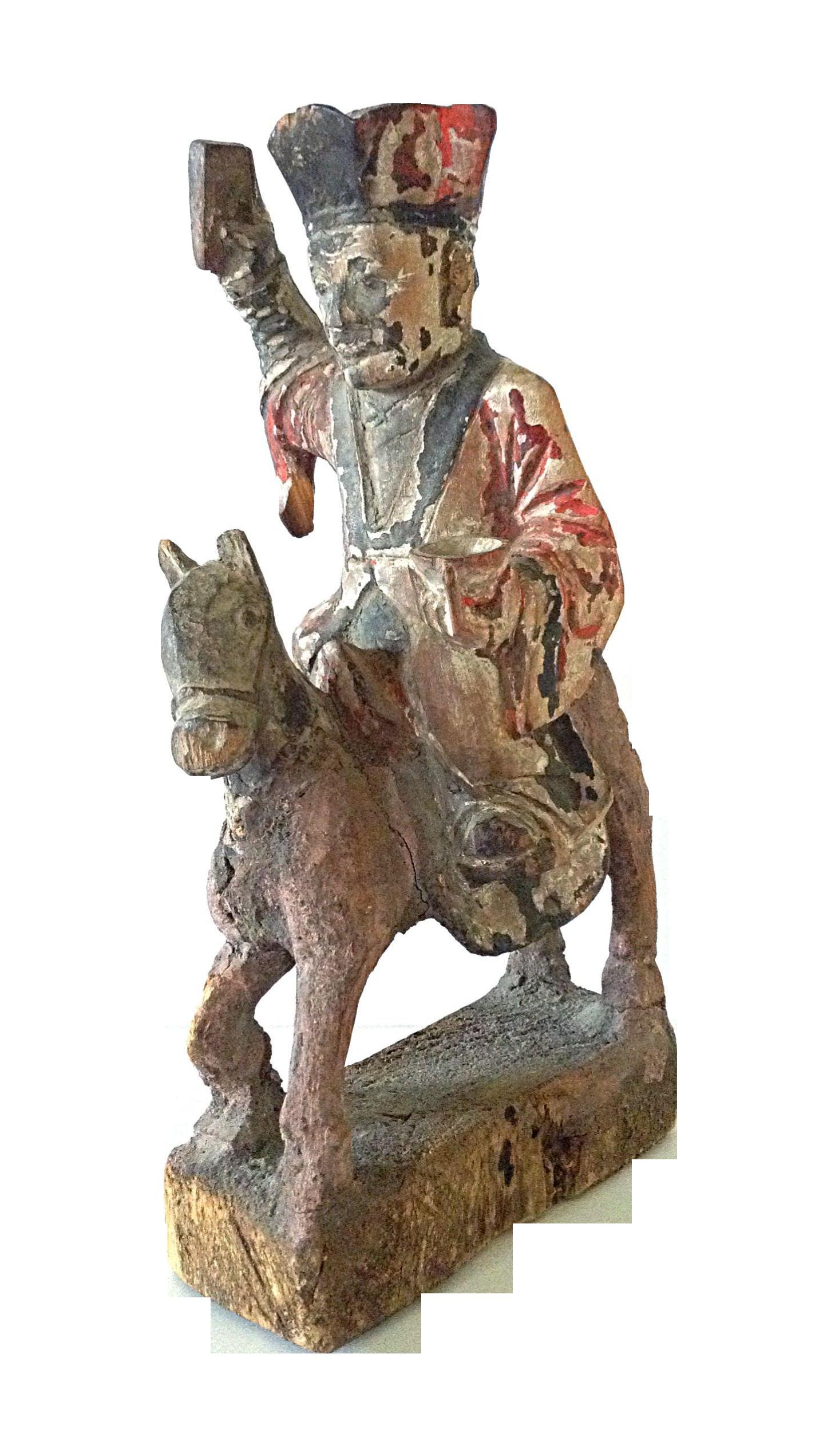 15th C. Chinese Wooden Prayer Figure on Chairish.com
