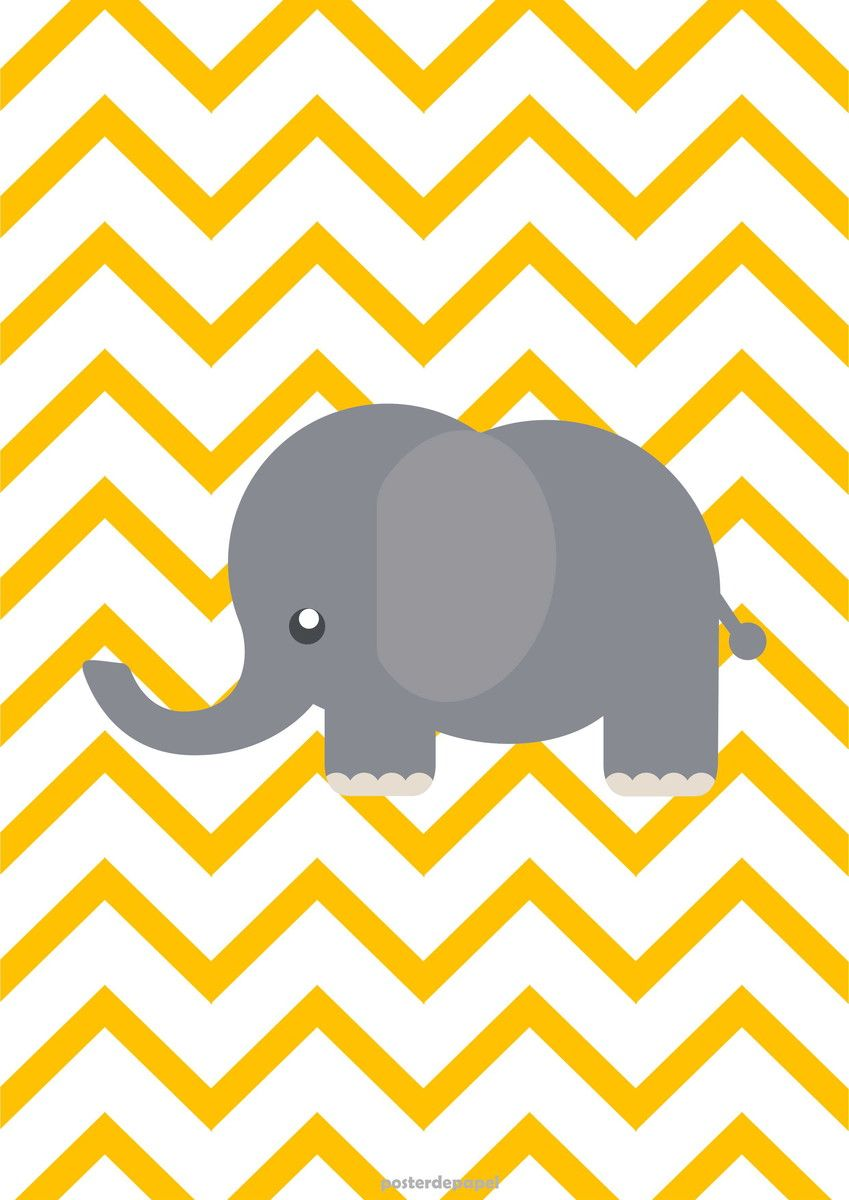 Poster infantil duplo elefante wallpaper babies and - Papel de pared infantil ...