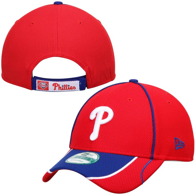 Philadelphia Phillies New Era Fan Wave 9FORTY Adjustable Hat - Red ... 52bbc9a57fd2