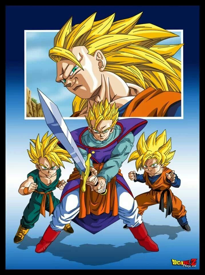 Gohan Goku Trunks Goten Dragón Ball Pinterest Goku Dragon
