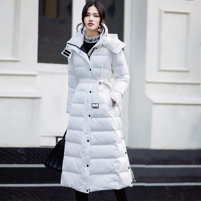 90% White Duck Down Jacket 2020 Women Winter Jacket Long Thick Coat for Women Hooded Down Parka Warm Female Clothes Waterproof