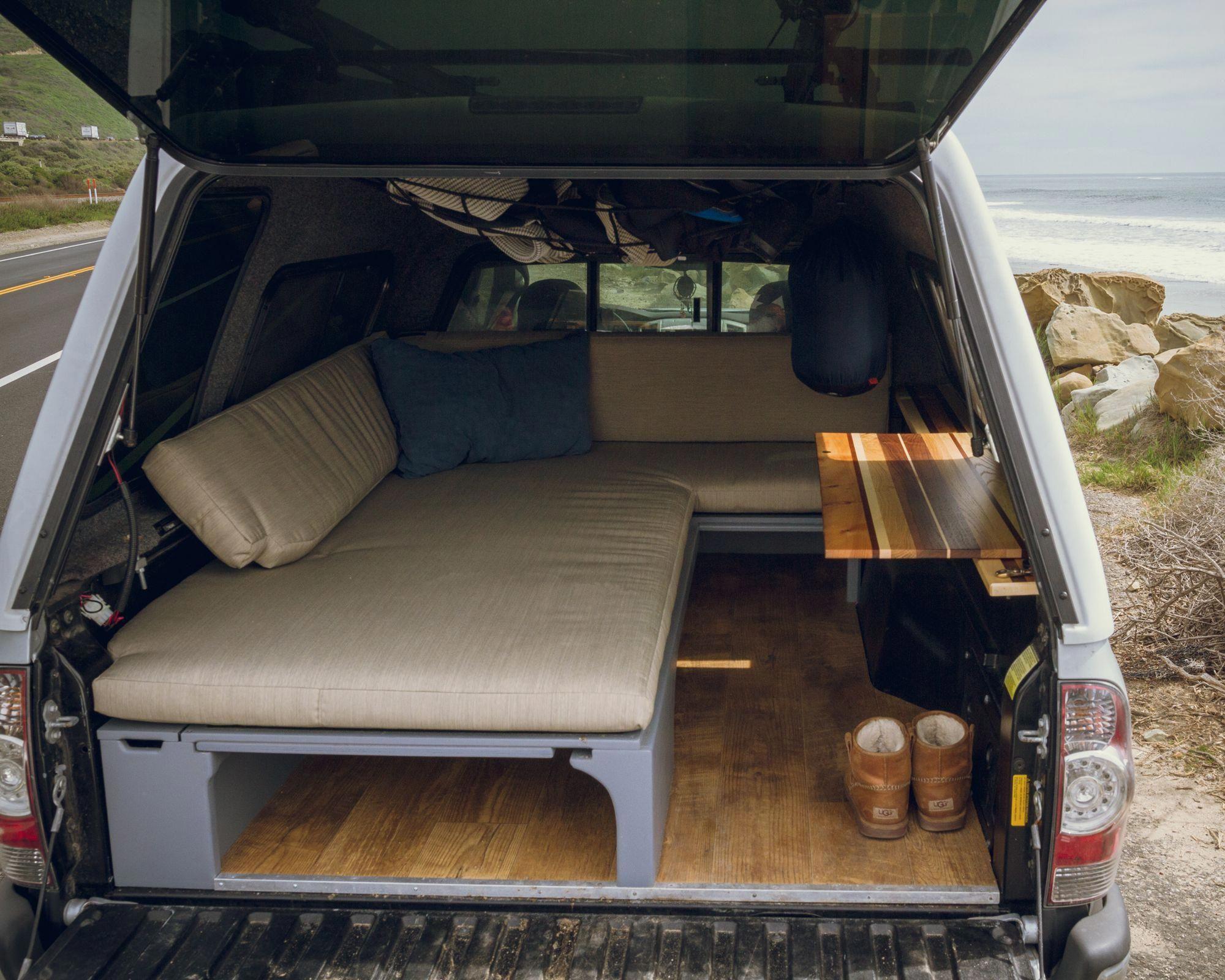 camper setup Truck bed camper, Truck bed camping