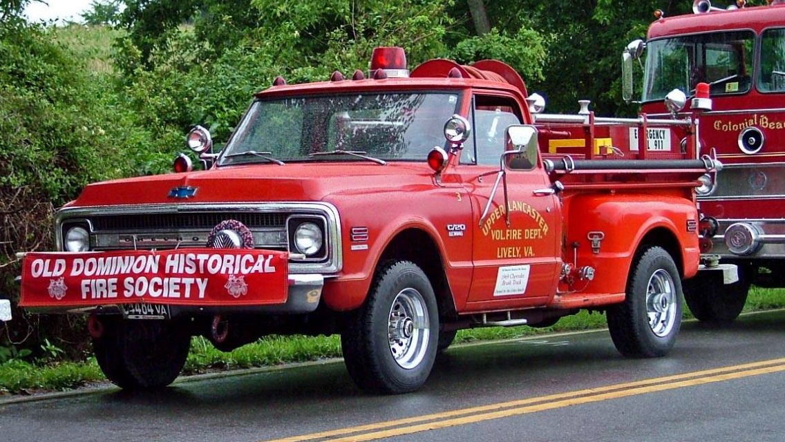 Old Chevy C10 Probably Early 70 S Fire Trucks Classic Chevrolet Old Dominion