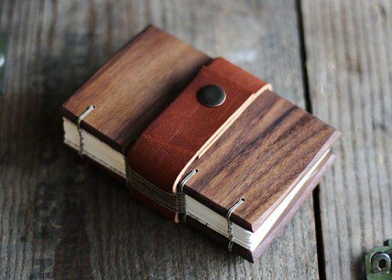 Walnut Journal with Leather Strap by boardingschool