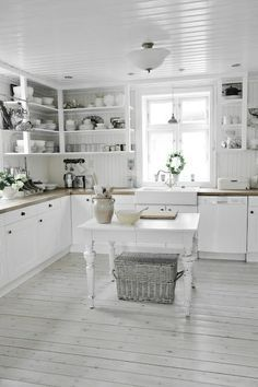 Love The Open Shelving Idea Fabulous Farmhouse Kitchens A Trending Style In  Natural Elements   The Cottage Market