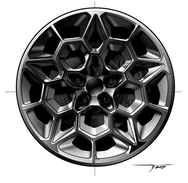 car wheel design circular rose window like polygonal pattern ...
