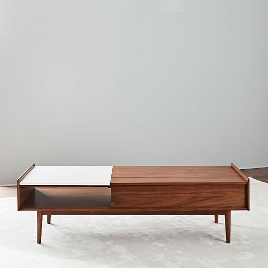 d33939f48cf6 Mid-Century Pop-Up Storage Coffee Table - Walnut (Large) in 2019 ...