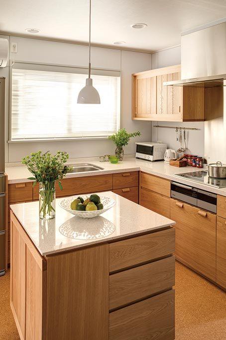 歴史を刻む家に品格を添える端正なl型キッチン お客様の声 家具蔵 カグラ L型キッチン キッチンデザイン リビング キッチン