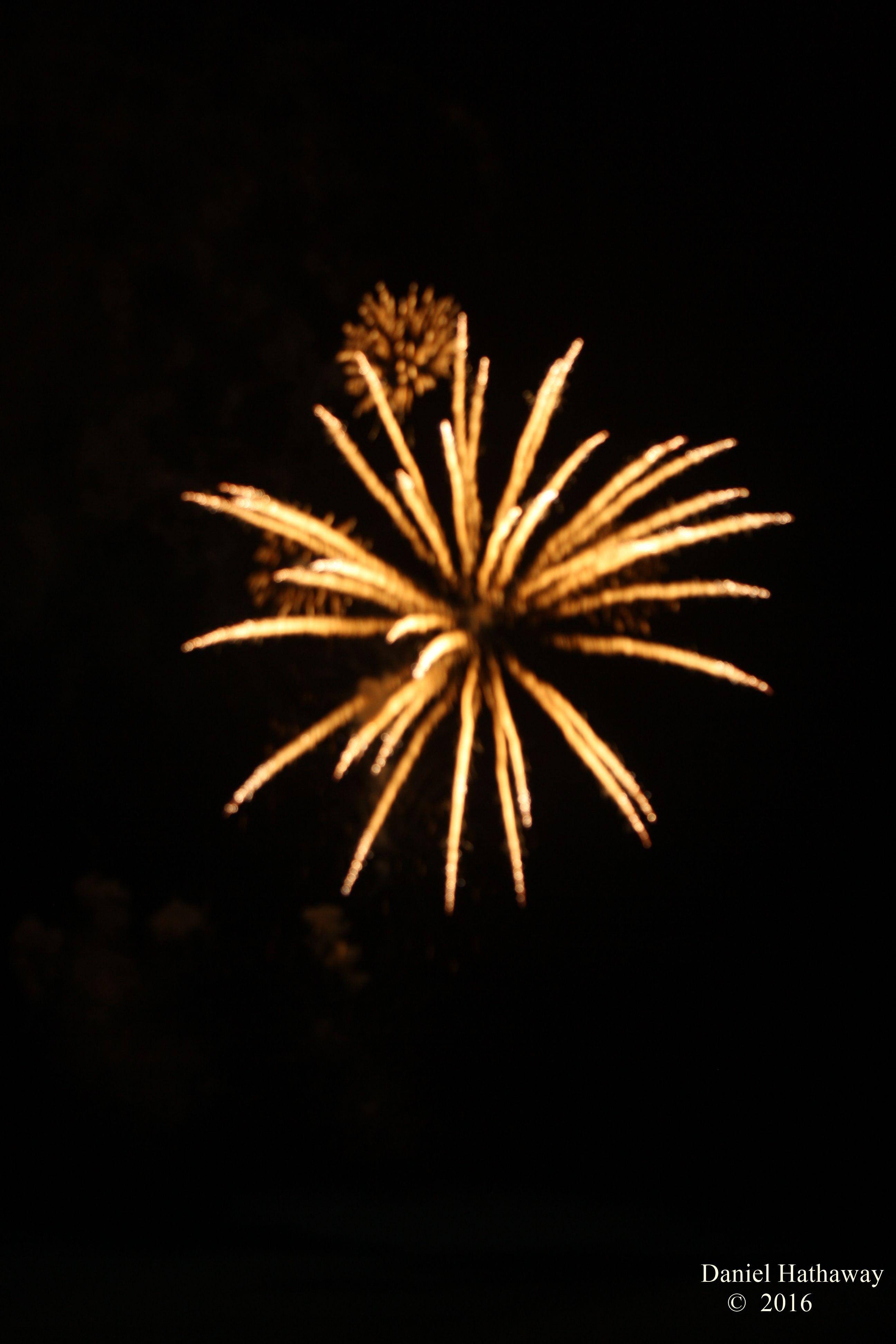 Fireworks in Bandon Or July 4 2016