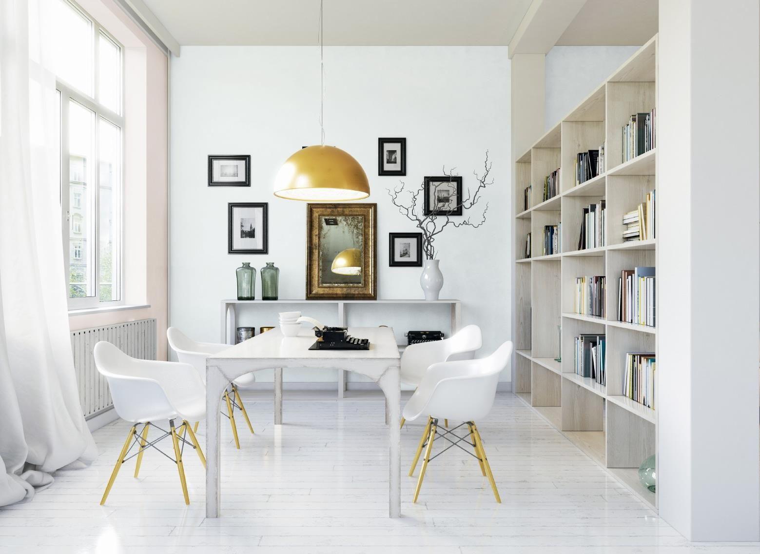 Białe wnętrze z charakterem Home