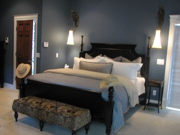 Benjamin Moore Paint Vermont Slate 1673 Blue Bedroom