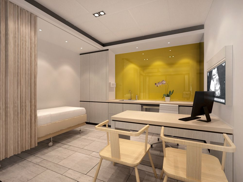 Doctors clinic interior design pictures comfortable and for Medical office interior design