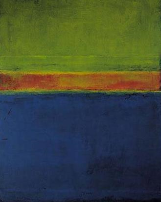 """Mark Rothko - Blue Red Green No. 2 -1953, Oil on canvas - Private collection. (One of the paintings appropriated by Marlborough A.G. in 1970 from the Rothko estate; """"Blue Red & Green No. 2, 1953)"""