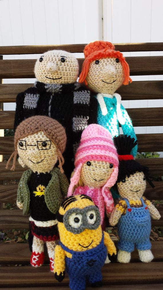 Despicable Me Set COMPLETE with Gru, Lucy, Margo, Edith, Agnes and ...