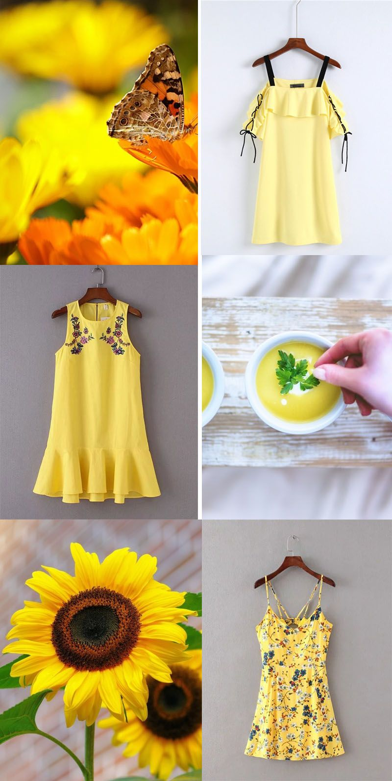 Love these new arrival yellow dress clothes shoes u accessories