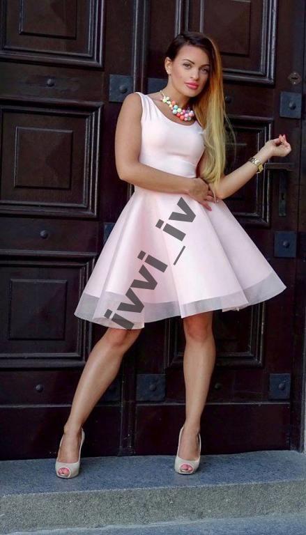 Pudrowy Roz Pianka Tiulowa Sukienka Xs 5557712757 Oficjalne Archiwum Allegro Dresses Fashion Graduation Dress