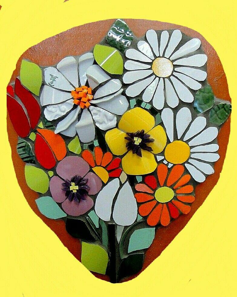 Flores con mosaicos   Flores con Mosaicos. Arte Musivo.   Pinterest ...