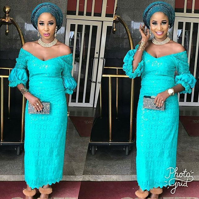 c82facf5d2b926 Lace Aso Ebi Styles : Lovely Iro and Blouse Styles for Women...Lace Aso Ebi  Styles : Lovely Iro and Blouse Styles for Women