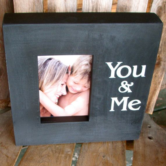 You And Me Picture Frame Wooden Frame Sign Gift For Couples