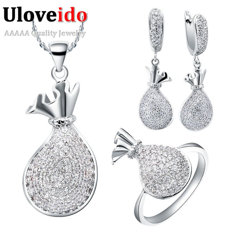 Find More Information About Silver Plated Crystal Rhinestone Jewelry Sets For Women Wedding Jewellry Zircon Accessories