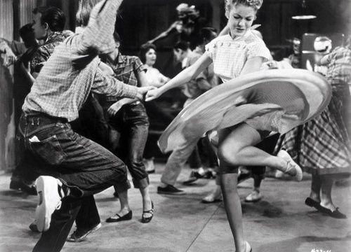 50s couple swing dancing #swingdance #1950s #dancing