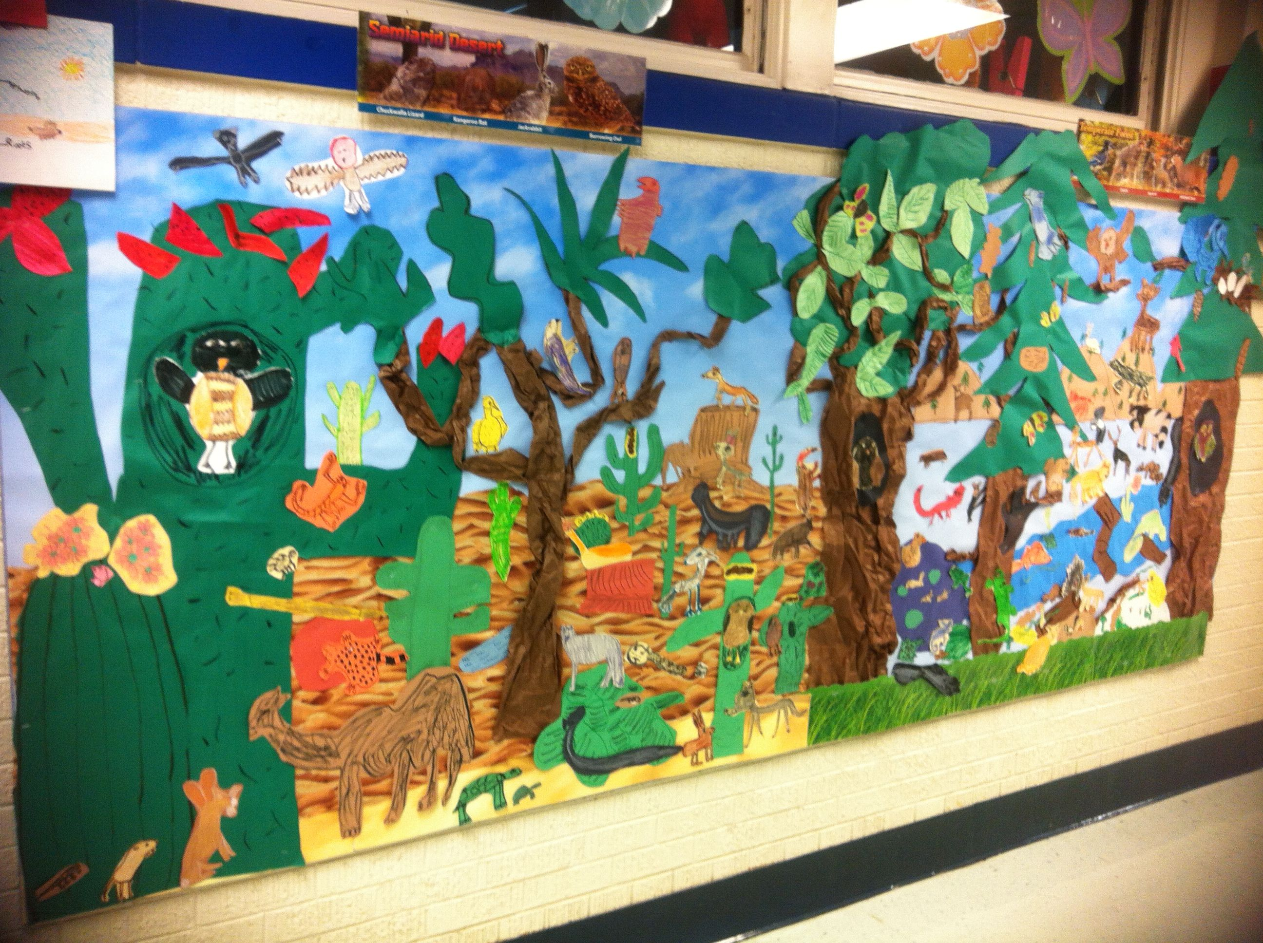 My First Grade Desert And Forest Habitat Mural
