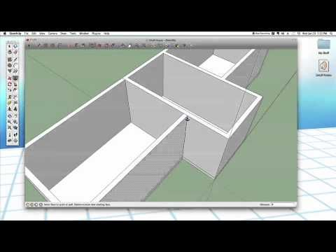 Sketchup 25 Small House Part 1 Walls Small House