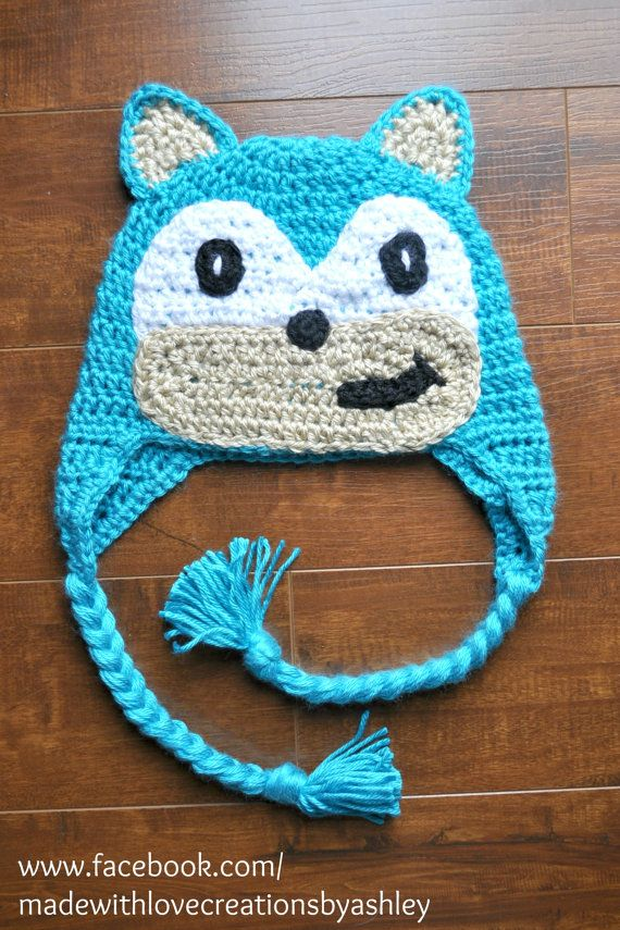 HAND MADE WITH LOVE in the USA **MADE TO ORDER!** Crochet Sonic the ...