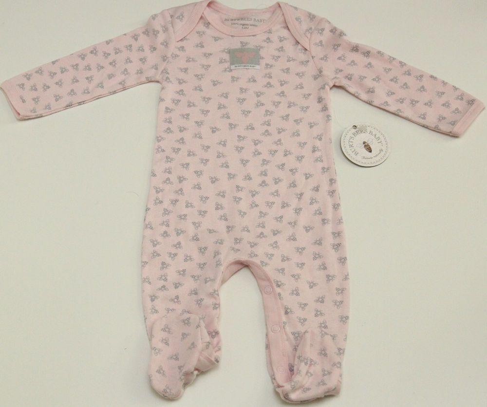 f852712e2 Burt s Bees Baby Girl Sleeper~ Size 6-9 Months ~ Pink~ Gray ~100 ...