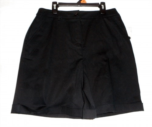 13.43$  Watch now - http://vicen.justgood.pw/vig/item.php?t=vp9od841791 - Women's Size 8 Black Croft & Barrow Bermuda Shorts New WIthout UPC Tag