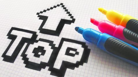 Handmade Pixel Art - How To Draw a TOP #pixelart