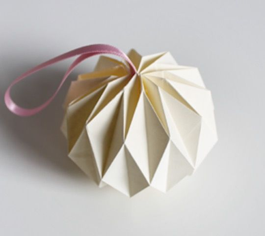 balle decoration de sapin de noel origami diy - Decoration De Noel En Origami