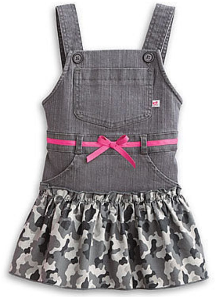 2981d4840dc9 New American Girl Bitty Baby Camo Jumper Dress Size 3 3T 4 5 6 7 ...