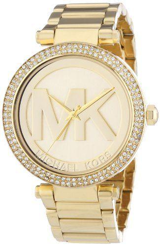 Michael Kors MK5784 Ladies All Gold Logo Parker Watch, http