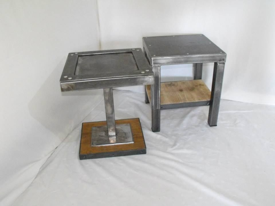 Tables d appoint table basse d appoint ou chevet style for Meuble 40x40