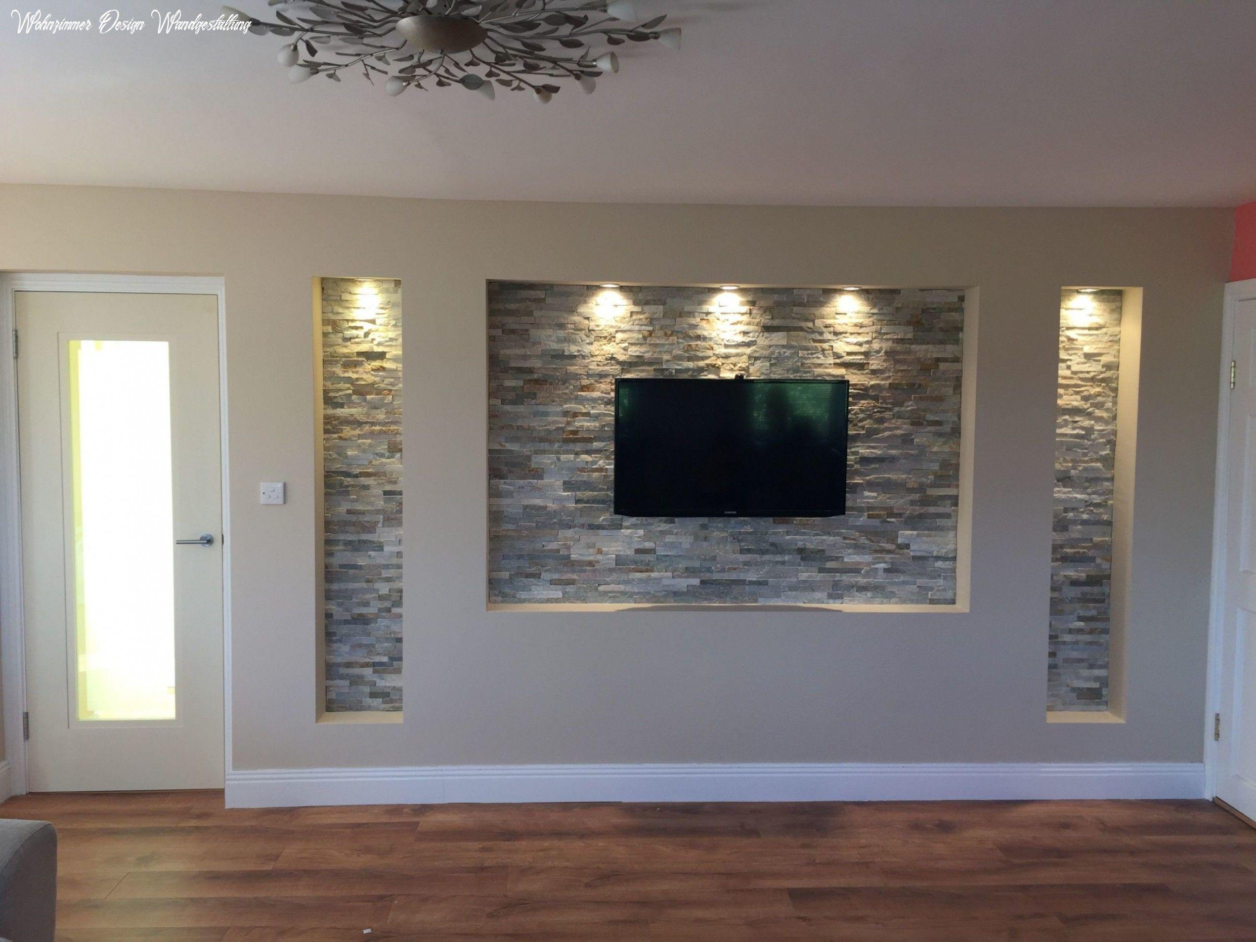9+ Wohnzimmer Design Wandgestaltung Umbau in 9  Tv wanddekor