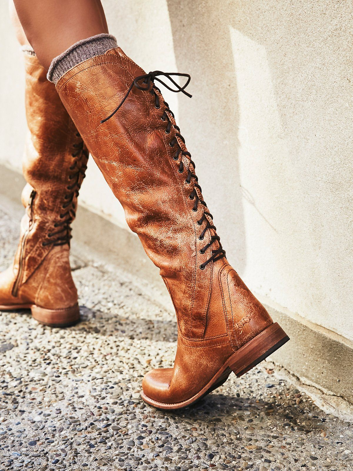 Surry Lace Back Boot | More Soft leather ideas