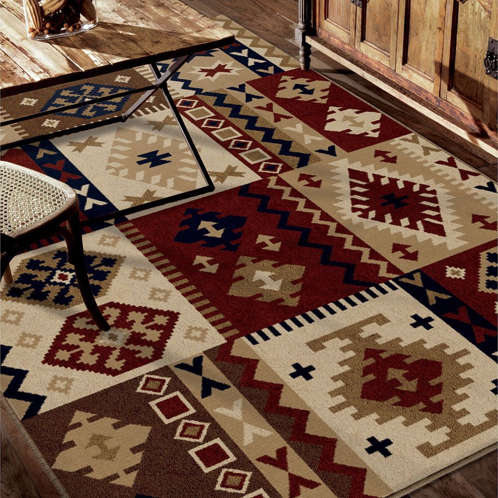 Cherokee DeSoto Multi Rug (7'10 x 10'10) - Overstock™ Shopping - Great Deals on Carolina Weavers 7x9 - 10x14 Rugs