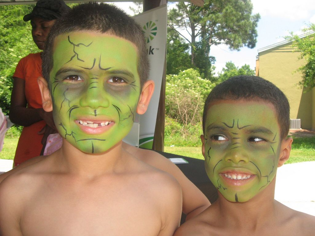 hulk face painting flickr photo. Black Bedroom Furniture Sets. Home Design Ideas