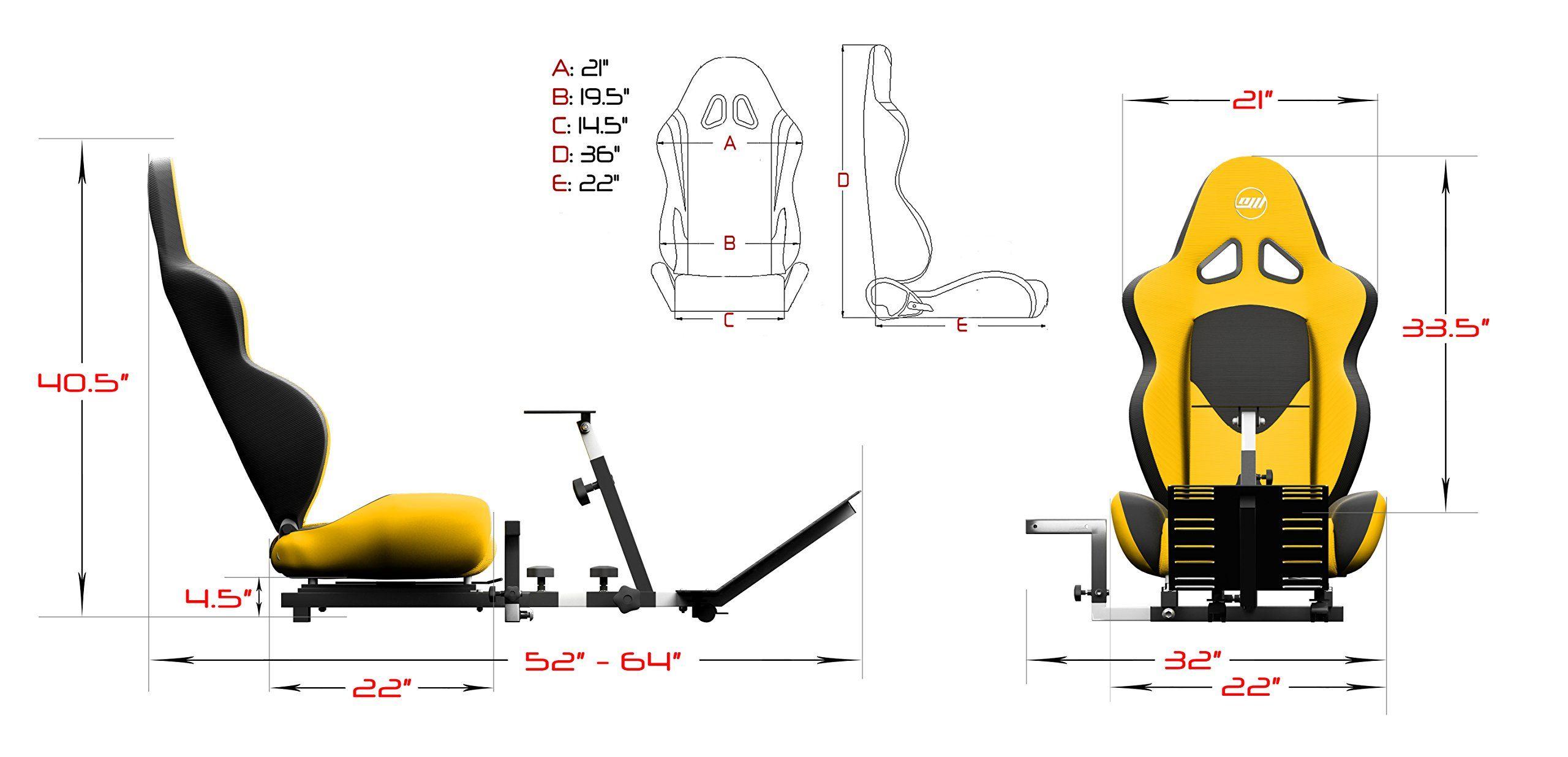 be83612ae82 Openwheeler GEN2 Racing Wheel Stand Cockpit Yellow on Black Fits All  Logitech G29 G920 All Thrustmaster All Fanatec Wheels,#Stand, #Cockpit,  #Yellow, #Wheel