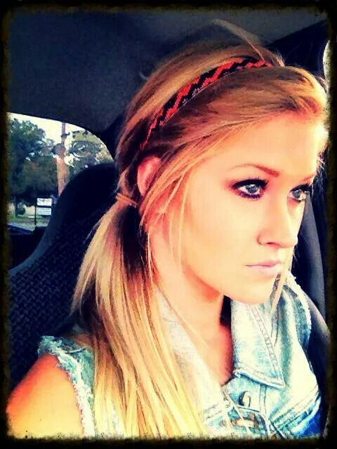 Easy way to dress up a pony tail or even with your hair down!