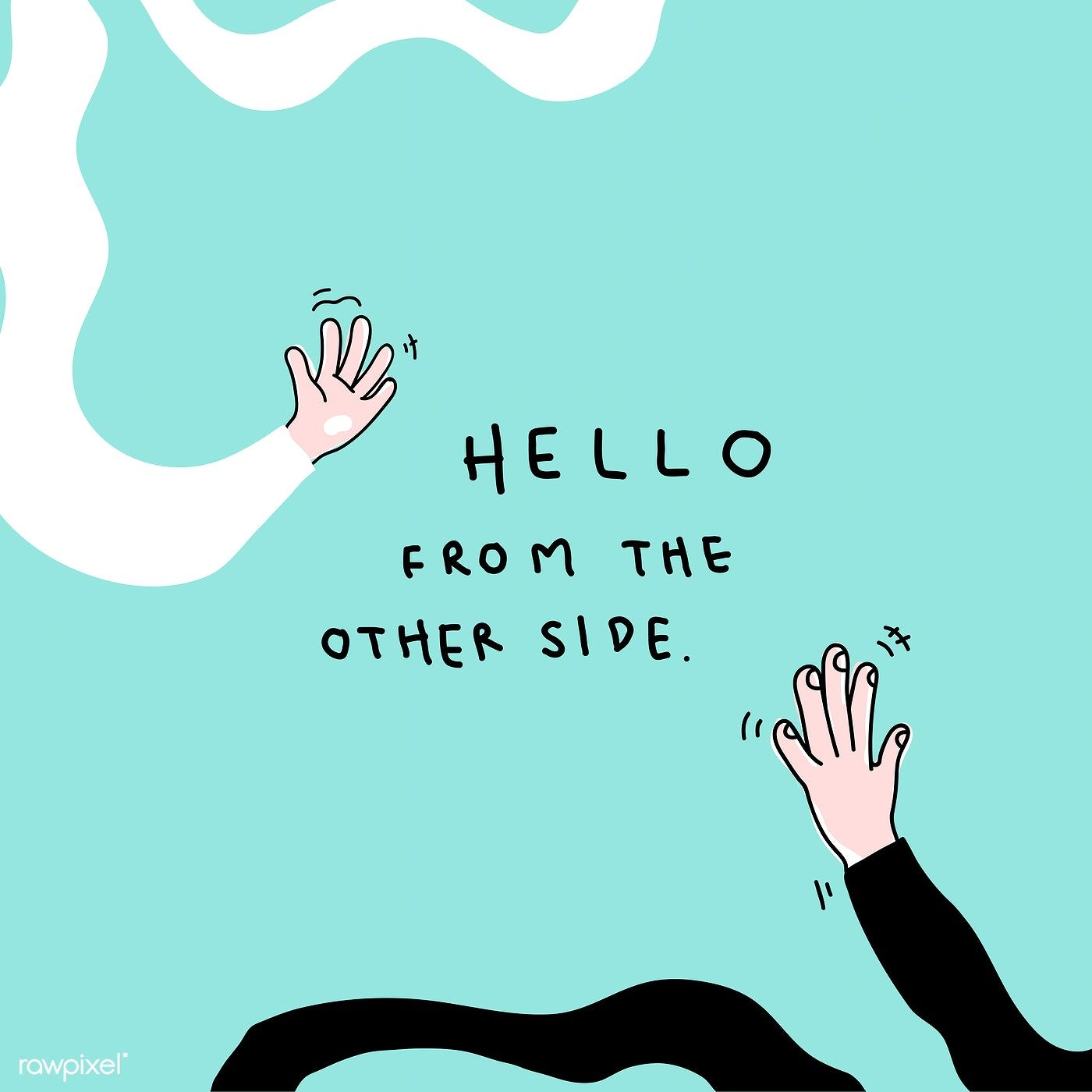 Photo of Download free vector of Hello from the other side social distancing vector