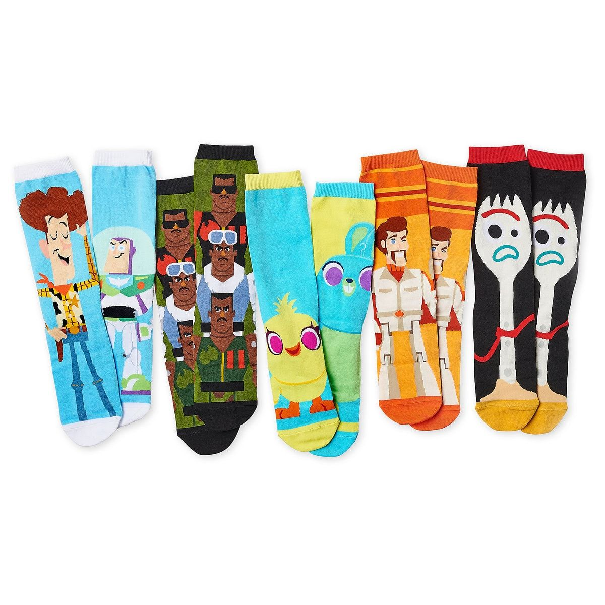 Toy Story 4 Sock Set For Adults 5 Pack Shopdisney Mickey And Friends Disney Store Toys Toy Story