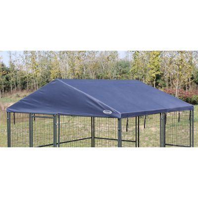 Retriever 10 Ft X 10 Ft Roof Cover At Tractor Supply Co Dog Kennel Dog Kennel Roof Dog Flooring