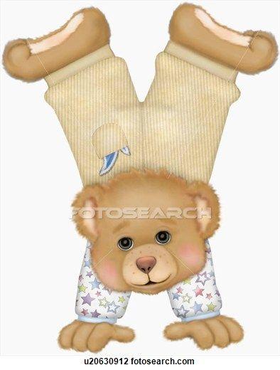 Teddy Bear Doing A Handstand Baby Clip Art Kids Clipart Cute Babies