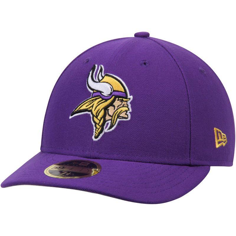 finest selection f9988 03e2e Minnesota Vikings New Era Omaha Low Profile 59FIFTY Structured Hat - Purple