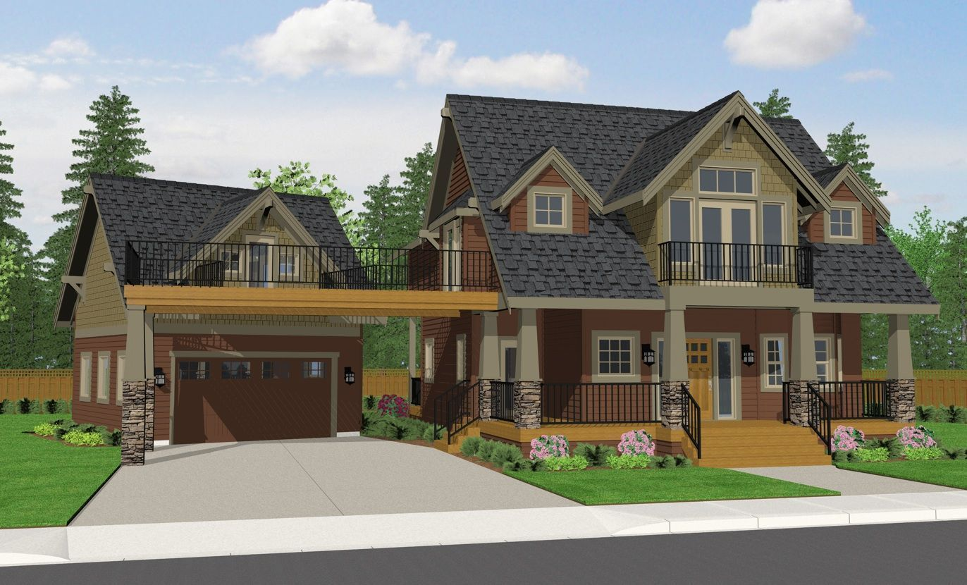 40 Best Detached Garage Model For Your Wonderful House Craftsman Bungalow House Plans Cottage House Plans Craftsman House Plans