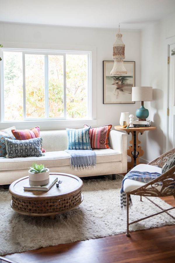 Mid Century Modern Living Room With A Boho Twist. Home Tour   Ashley Redmond