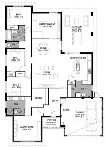 2d Floorplan Luxury House Designs 4 Bedroom House Plans Luxury House Plans